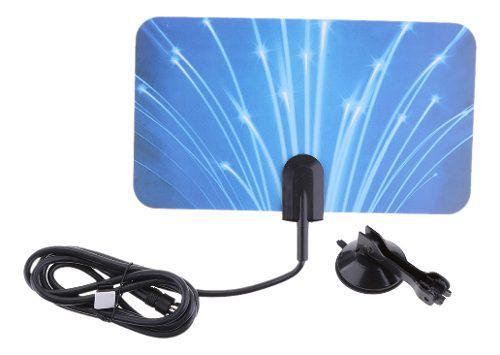 Antena hdtv interior amplificada alta potencia 5db uhf vhf