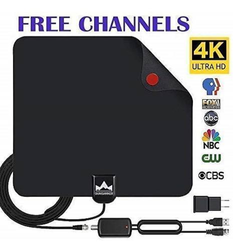 Antena para tv, smart tv hdtv digital amplificada negro 2019