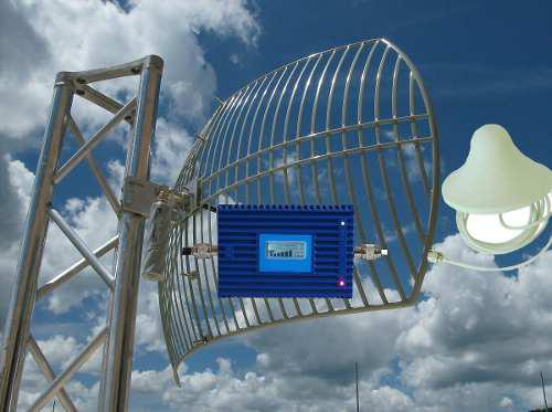 Antena rejilla 4g y amplificador telcel at&t unefon movistar