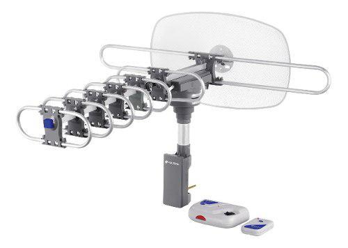 Antena tv digital hd giratoria con cable coaxial