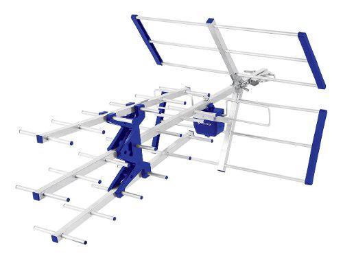 Antena tv uhf aérea 27 elementos hd 15 mt de cable y mastil