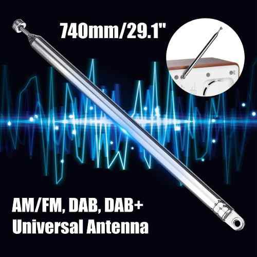 Antena universal am fm dab radio telescópica tv acústica