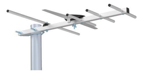 Antenas para tv 5 elementos exterior analógica digital ghia