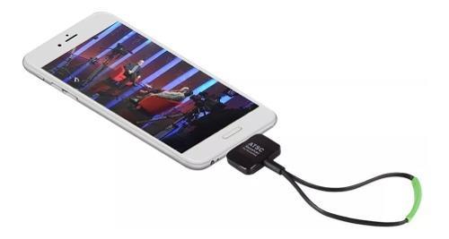Sintonizador tv celular tablet android otg antena entrada v8