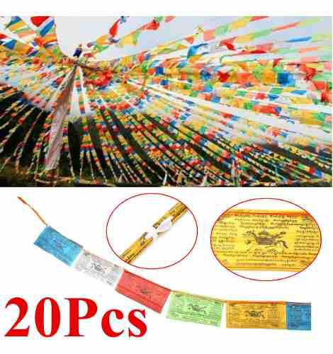 20 piezas de 27 x 15 cm tibetano de viento caballo oración