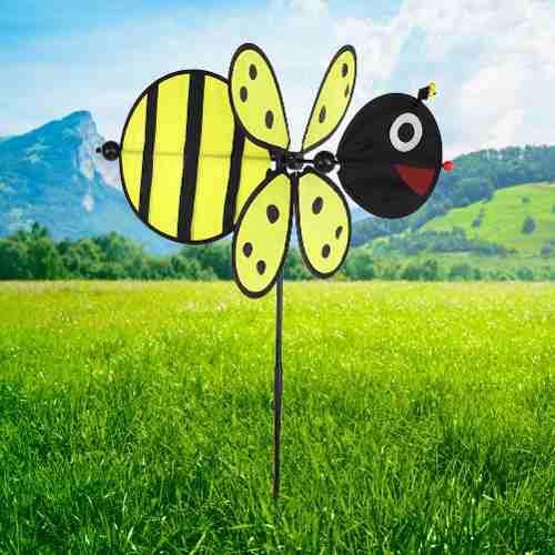 Colorido 3d Insecto Decorativo Molino De Viento Juguete Jard