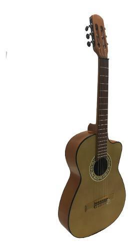 Guitarra acústica curva paquete todo incluido con afinador