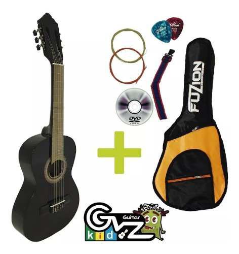 Guitarra acústica infantil niños 3 a 8 años super paquete