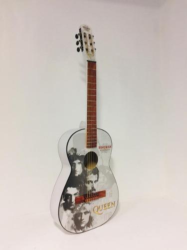 Guitarra acústica selecta diseño de queen funda de regalo