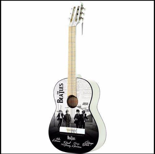 Guitarra The Beatles Con Funda, 2 Plumillas Y Tahalí