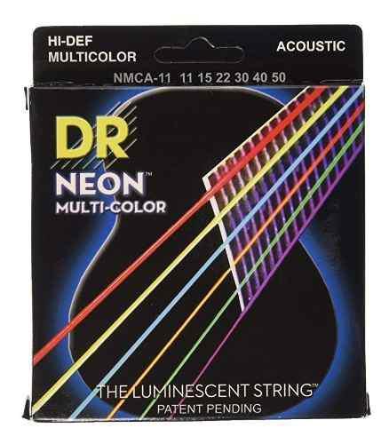 Juego cuerdas guitarra acust electro 11/50 hi-def neon dr +