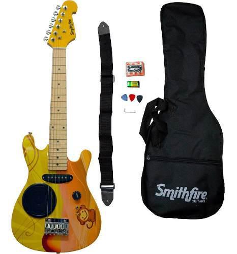 Paquete mini guitarra eléctrica smithfire ramonkey