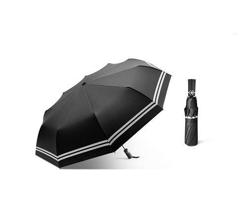 Plegable paraguas bebego a prueba de viento viajes paraguas