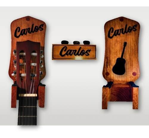 Soporte stand de pared guitarra bajo personalizado con tu
