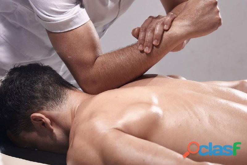 Masaje descontracturante alivio dolor muscular intenso