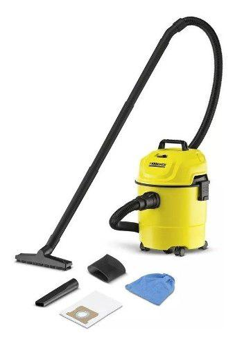 Aspiradora karcher seco/ humedo 15 lts 1300 w amarilla