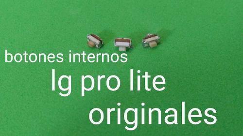 Juego de botones internos (pulsador) para lg pro lite