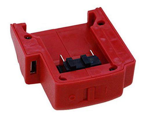 Puertos usb cargador de batería adaptador para milwaukee