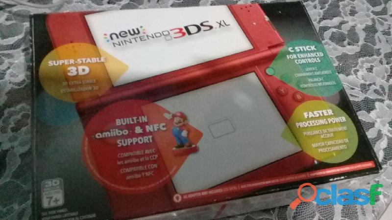 New Nintendo 3ds Xl Rojo + Cargador Original + Juego (nuevo)