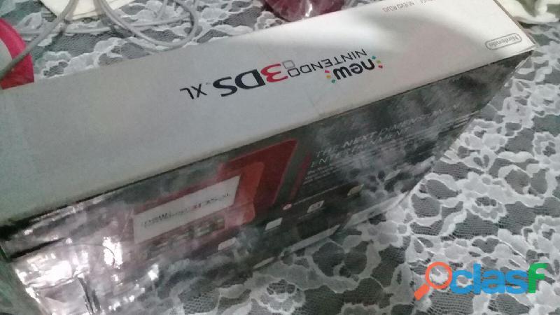 New Nintendo 3ds Xl Rojo + Cargador Original + Juego (nuevo) 1
