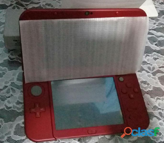 New Nintendo 3ds Xl Rojo + Cargador Original + Juego (nuevo) 3