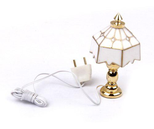 1:12 casa de muñecas en miniatura lámpara de mesa de luz