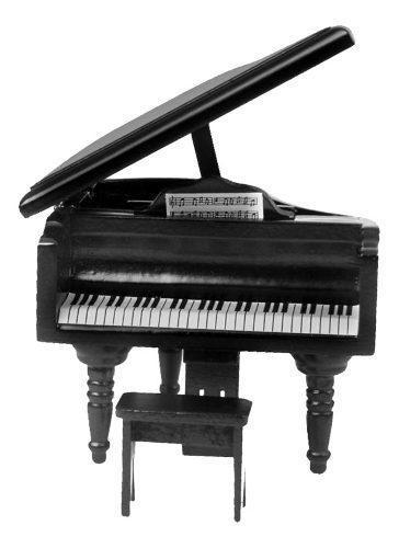 1/12 casa de muñecas piano de madera en miniatura de color