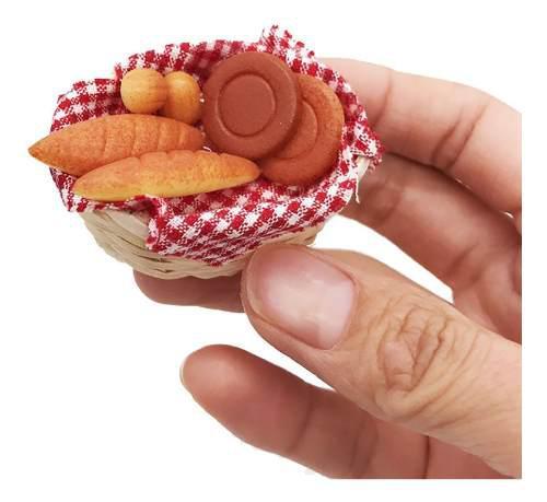 1/12 Mini Casa De Muñecas En Miniatura Comida Pan Tostado