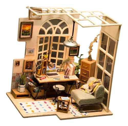 1:24 casa de muñecas en miniatura con muebles hecho de