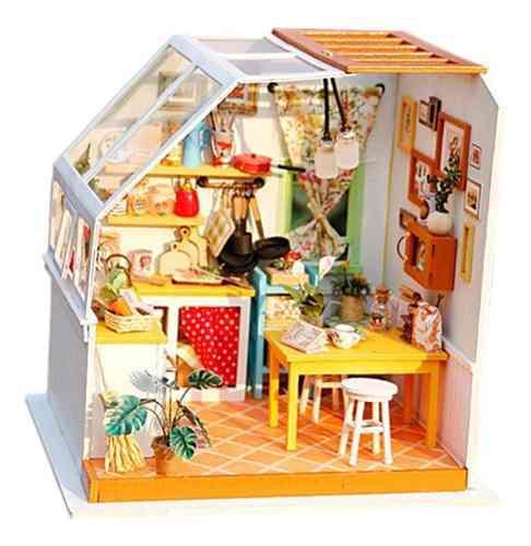 1:24 casa de muñecas en miniatura diy prince kits de casa