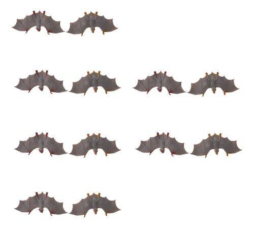 12pcs figura de murciélago realista en miniatura juego de