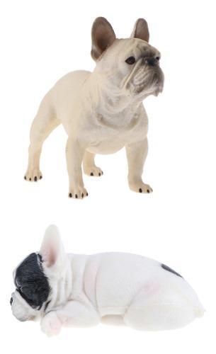 2pcs juguete en miniatura perro realista figura modelo de