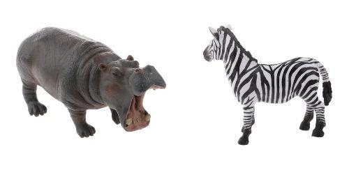 2x figuras de animales en miniatura, juguete educativo y