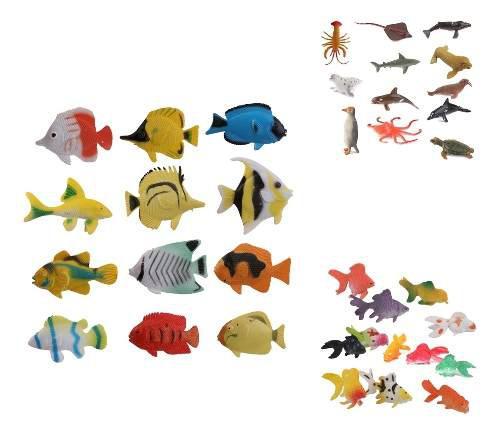 36pcs miniatura adornos para niños modelo figuras regalo de