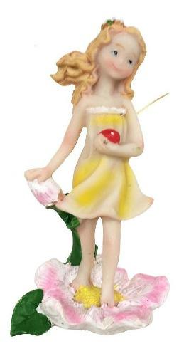 4 piezas de adorno en miniatura diy hadas niñas en maceta