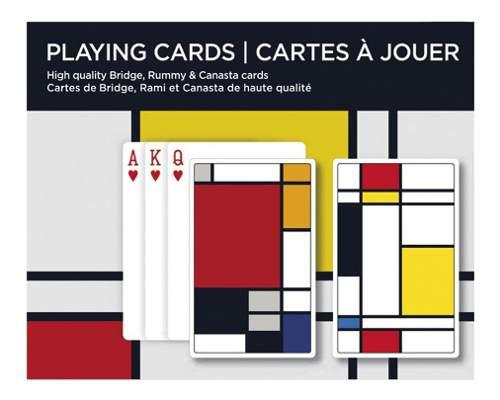 Baraja juego de cartas poker naipe set doble piet mondrian
