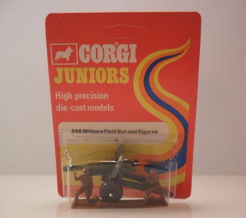 Corgi cañon militar field gun and figures vintage