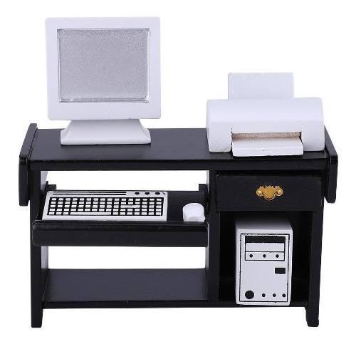 Juego de muebles de oficina en miniatura impresora de silla
