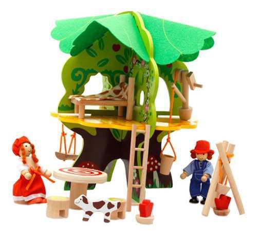 Kit de casa muñecas muebles en miniatura figuras educativas