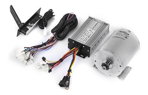 Kit motor eléctrico con pedal y controlador 1800w 48v dc