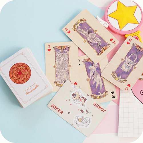 Maso de cartas de juego de poker de sakura card captor anime
