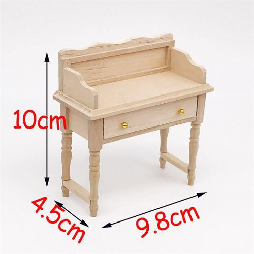 Mesa de escritorio en miniatura para casa de muñecas 1:12,