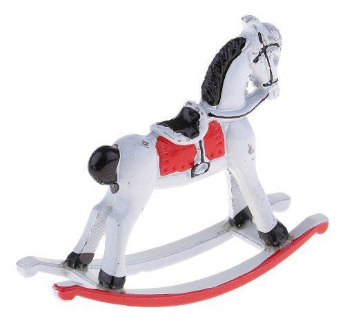 Miniatura caballo mecedora metal escala 1:12