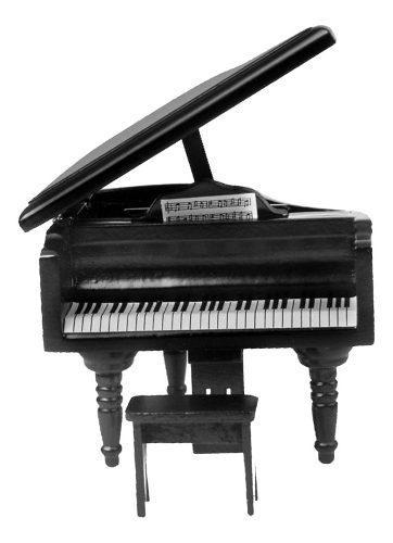 Miniatura instrumento musical piano de madera para casa de