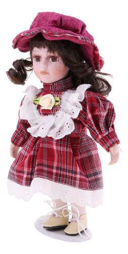 Miniatura manera bonita muñeca de cerámica de juguete de