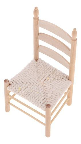 Miniatura silla decorativa para casa de muñecas 1/12