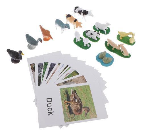 Montessori animal match - animales en miniatura con