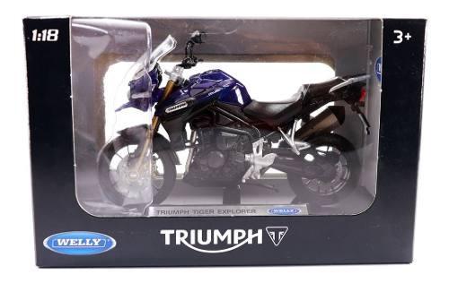 Moto escala miniatura 1/18 welly metal escoger