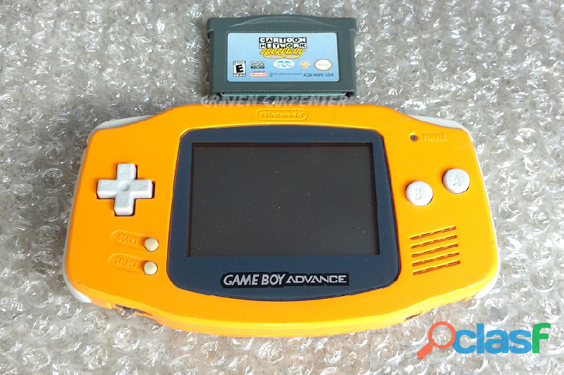 Game boy advance spice orange