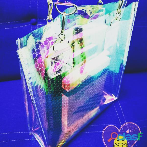 Bolsa transparente tornasol